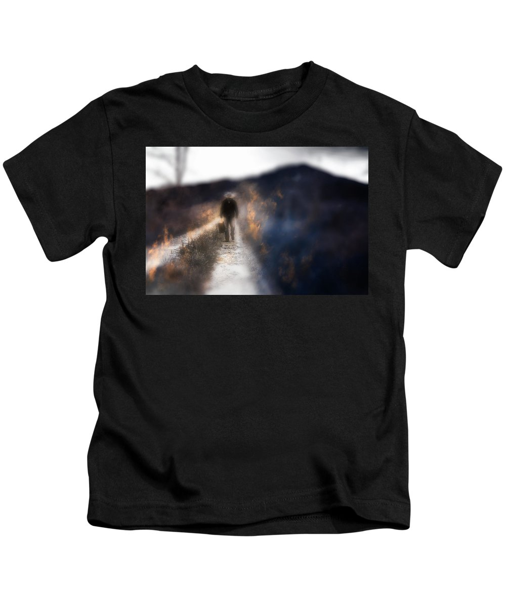 North Carolina Kids T-Shirt featuring the photograph Fire Road by Gray Artus