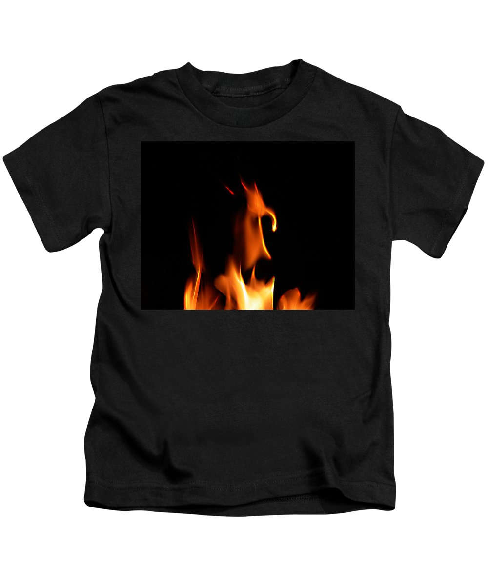 Cartoon Character Fire Kids T-Shirt featuring the photograph Fire Toon by Peter Piatt