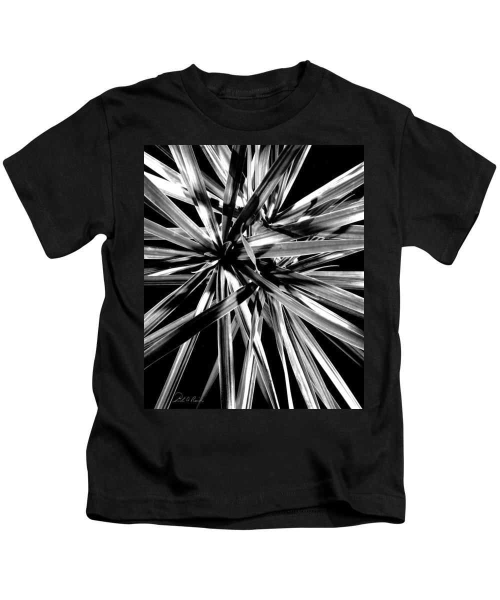 Black & White Kids T-Shirt featuring the photograph Fire Works I by Frederic A Reinecke
