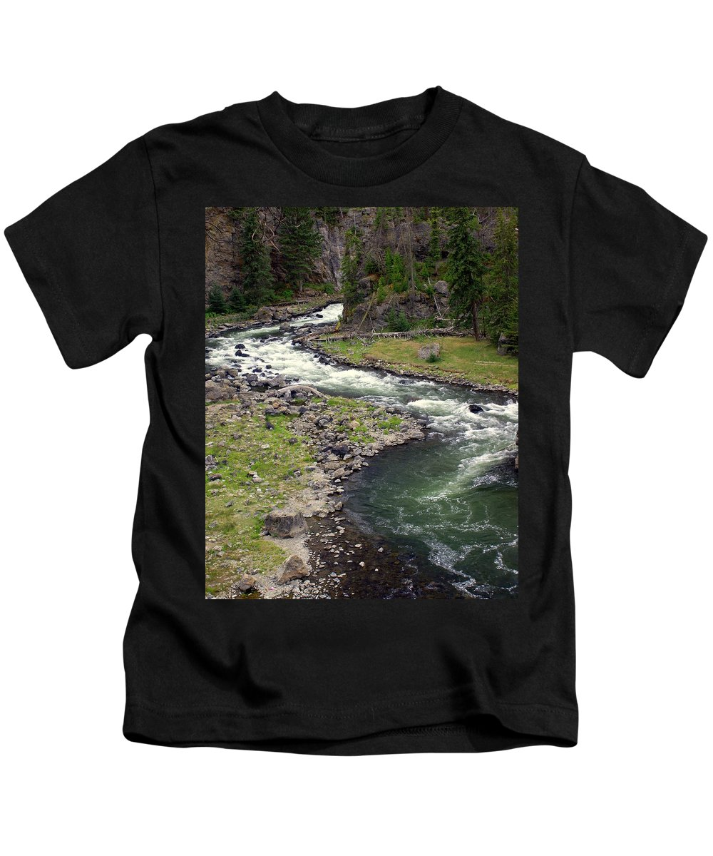 Firehole River Kids T-Shirt featuring the photograph Firehole River 2 by Marty Koch