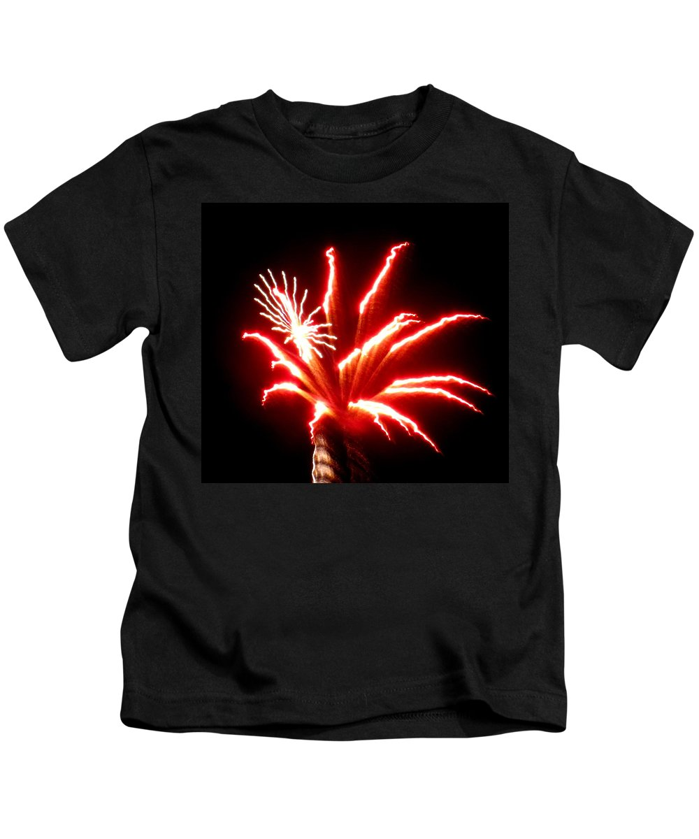 Fireworks Kids T-Shirt featuring the photograph Firework Hibiscus by Adrienne Wilson