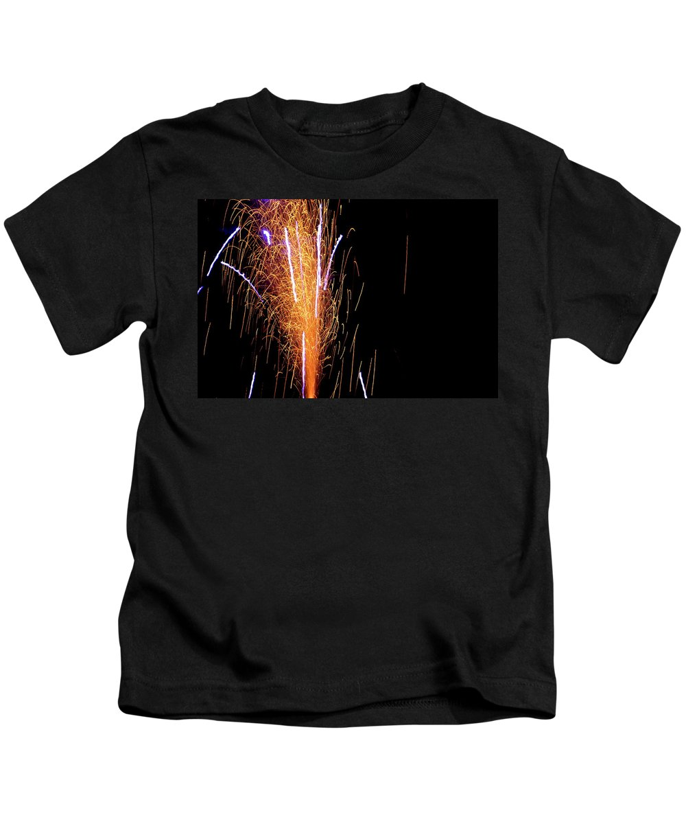Firework Kids T-Shirt featuring the photograph Fireworks II by Charles Bacon Jr