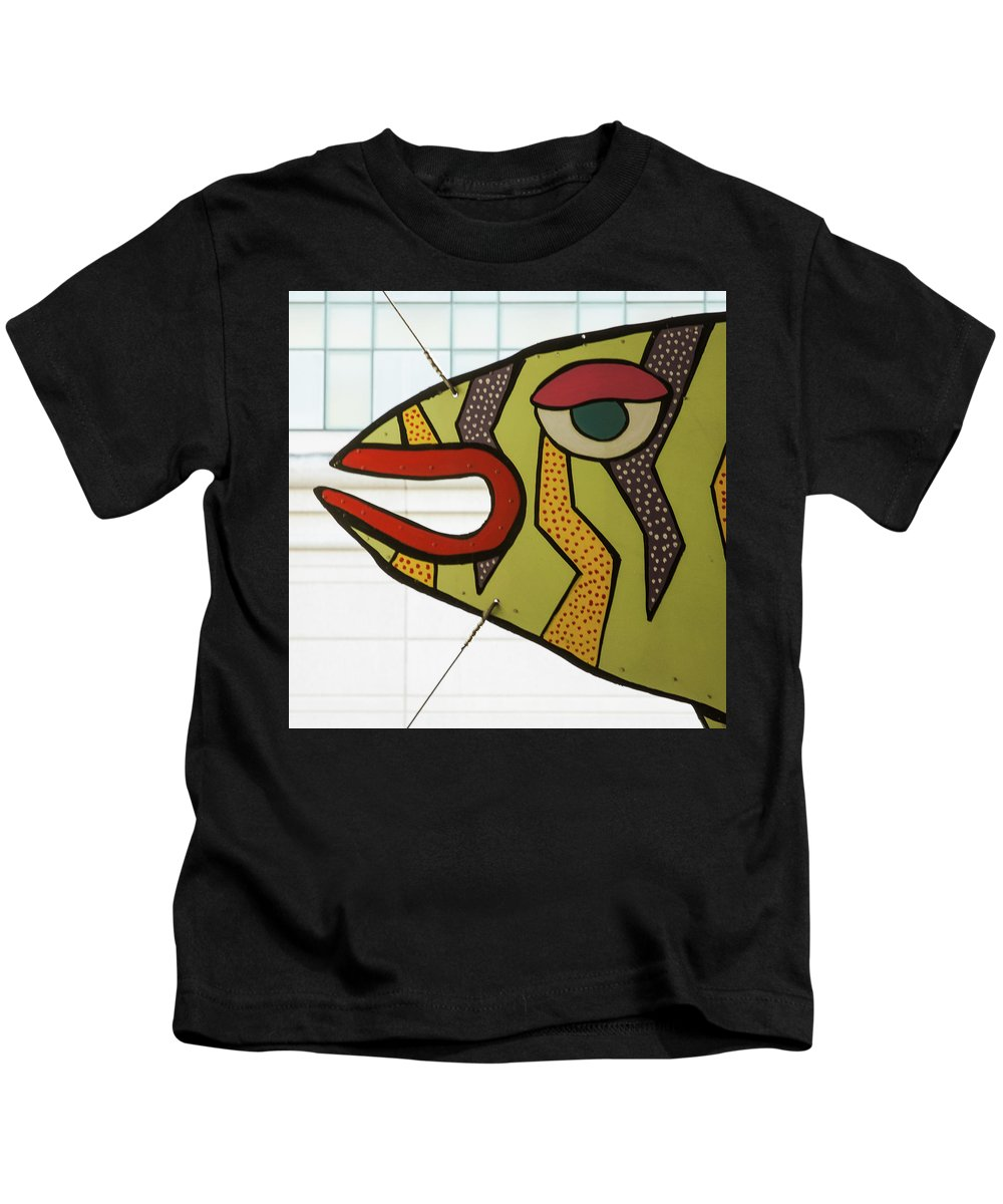 Fish Kids T-Shirt featuring the photograph Fish Parking by Richard Lishner