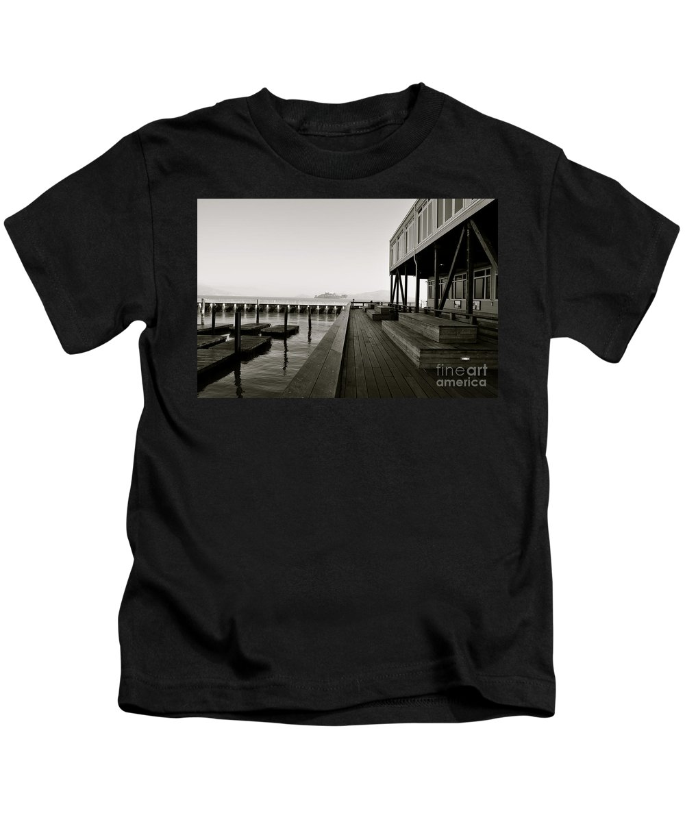 Alcatraz Kids T-Shirt featuring the photograph Fisherman's Wharf by Kayme Clark