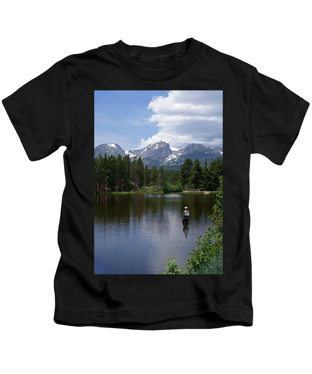 Fishing Kids T-Shirt featuring the photograph Fishing In Colorado by Heather Coen
