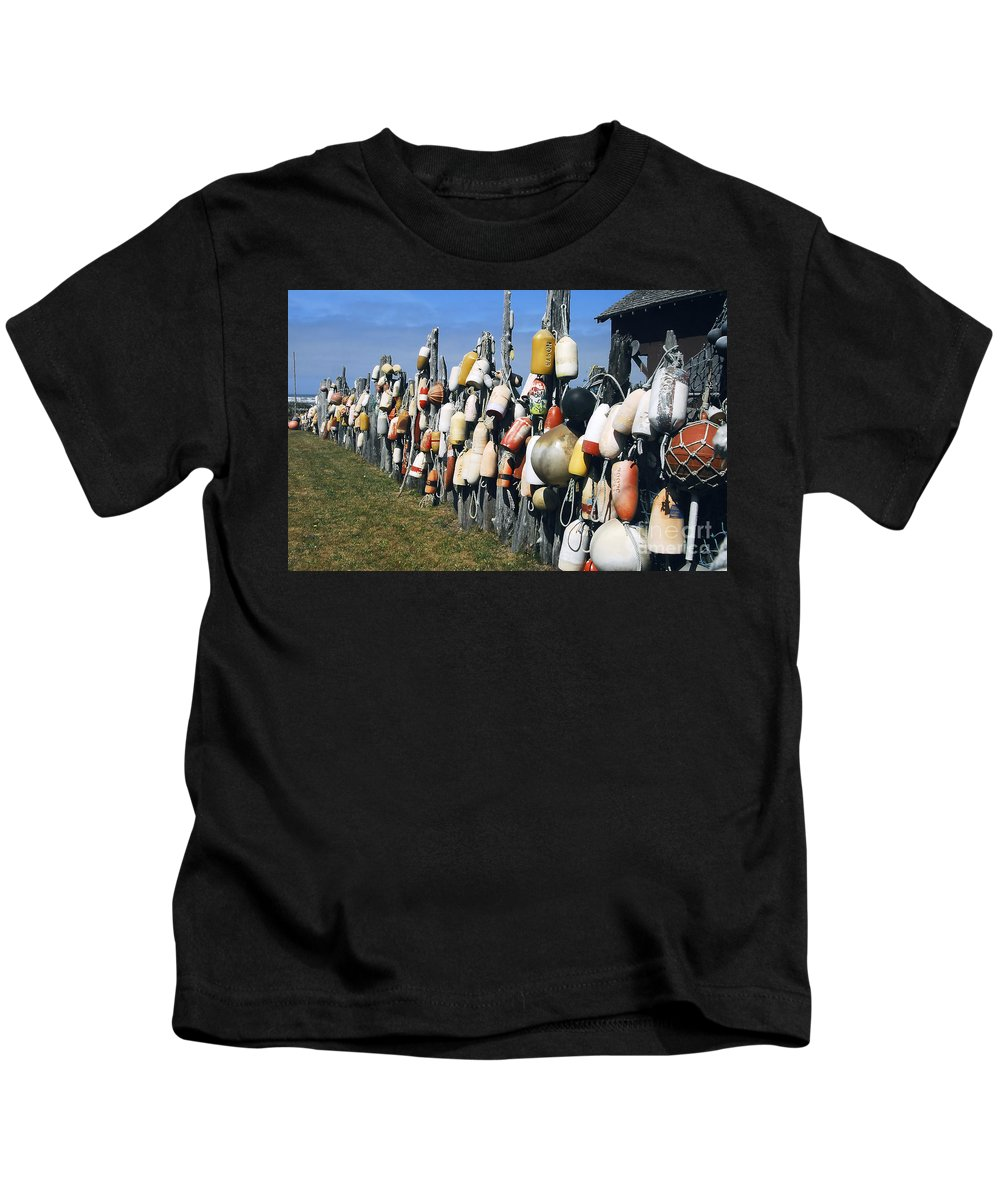 Buoys Kids T-Shirt featuring the photograph Fishing Village by David Lee Thompson