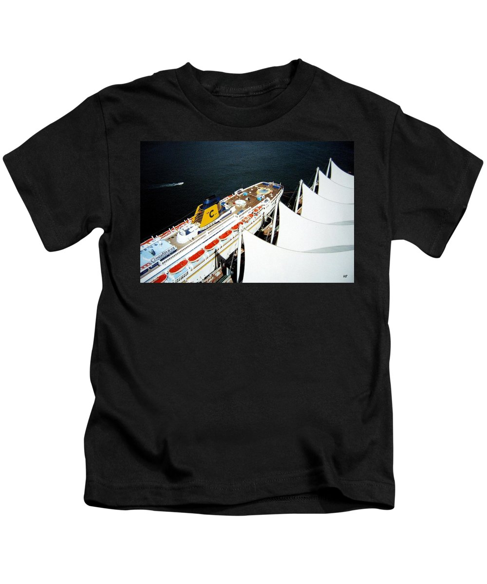 Five Sails Kids T-Shirt featuring the photograph Five Sails And A Ship by Will Borden
