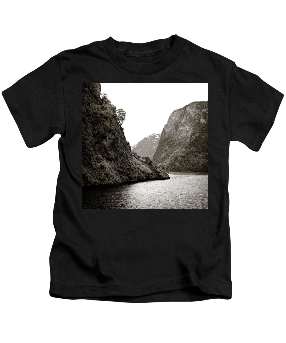 Norway Kids T-Shirt featuring the photograph Fjord Beauty by Dave Bowman
