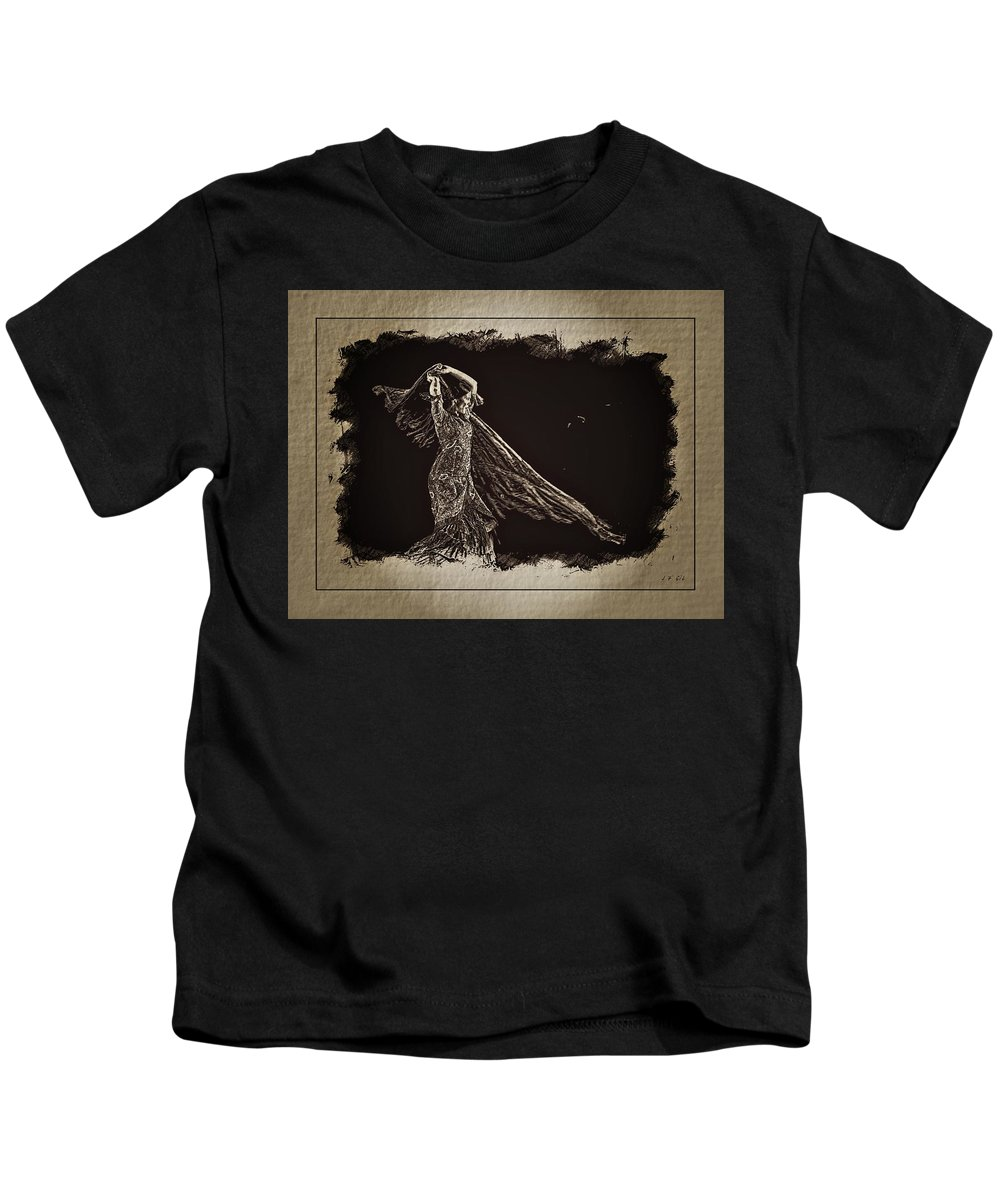 Flamenco Kids T-Shirt featuring the photograph Flamenco by Jean Francois Gil