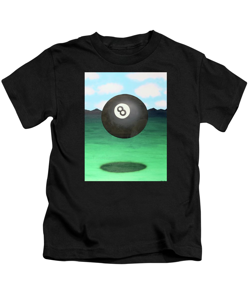 Surrealism Kids T-Shirt featuring the painting Floating 8 by Thomas Blood