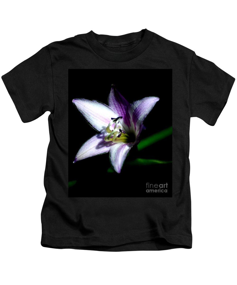 Digital Photograph Kids T-Shirt featuring the photograph Floral 7-24-09 by David Lane