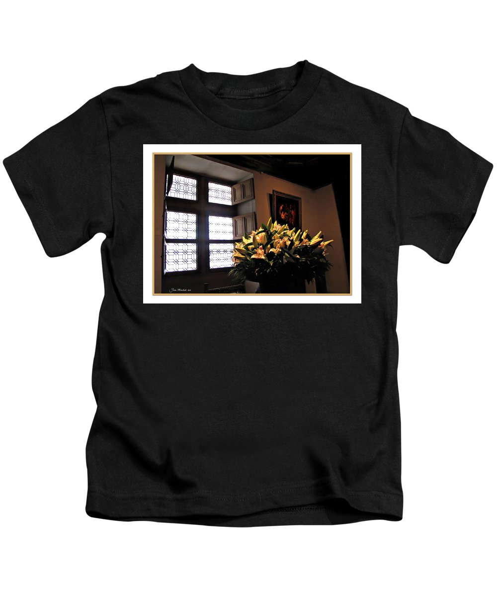 Chateau Kids T-Shirt featuring the photograph Floral At Chenonceau by Joan Minchak