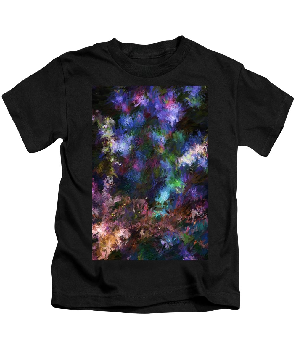 Flowers Kids T-Shirt featuring the digital art Floral Field by David Lane