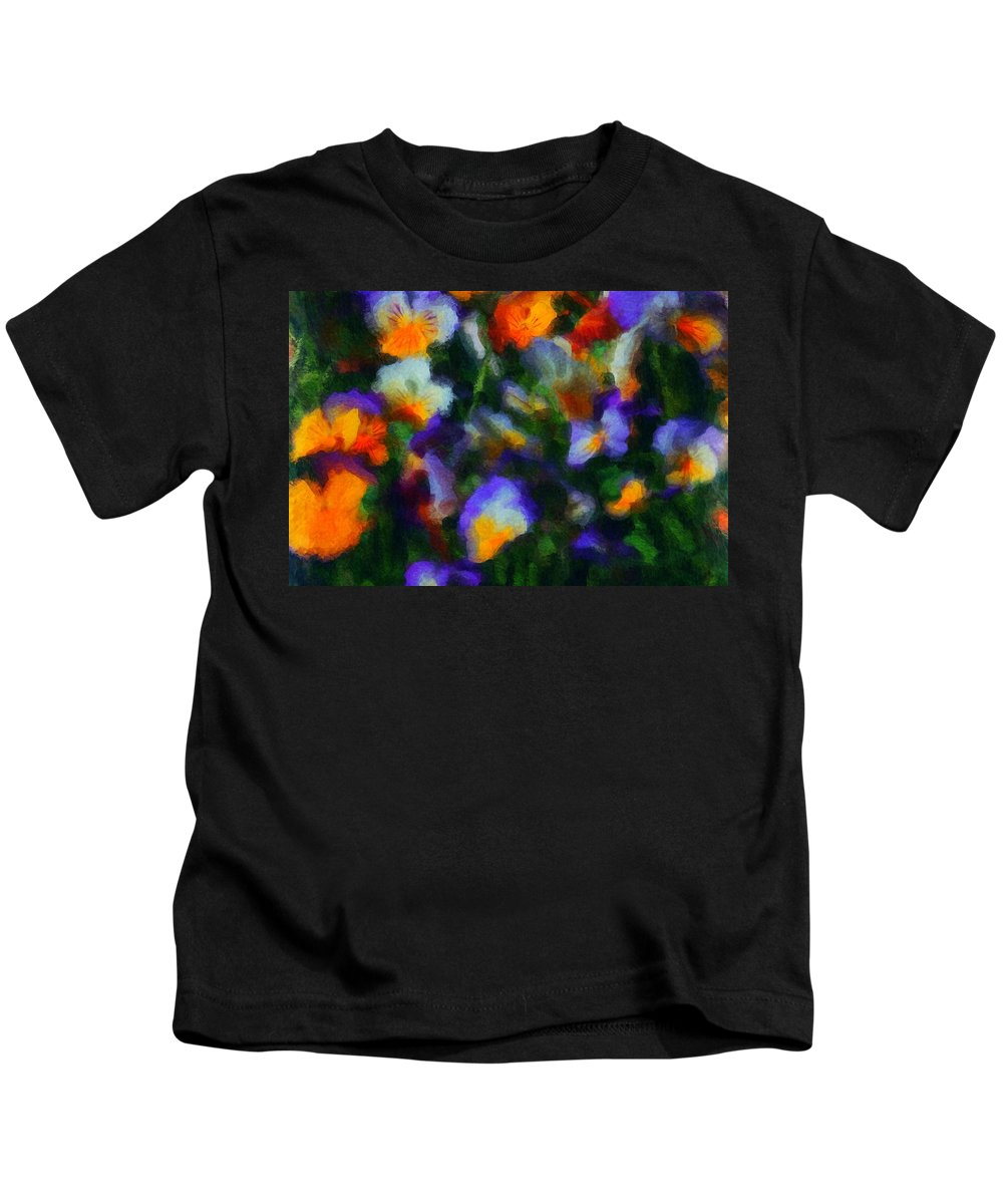 Digital Photography Kids T-Shirt featuring the photograph Floral Study 053010a by David Lane