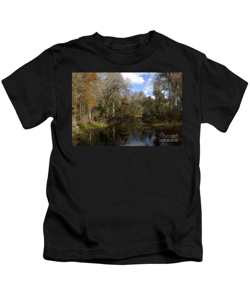 Wetlands Kids T-Shirt featuring the photograph Florida Wetlands by David Lee Thompson