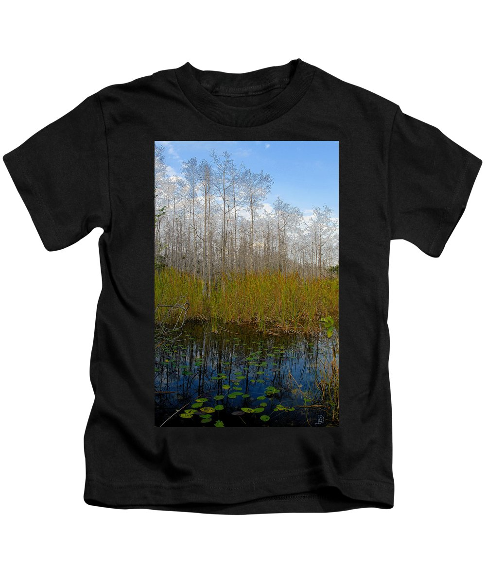 Florida Kids T-Shirt featuring the painting Florida Wilderness by David Lee Thompson