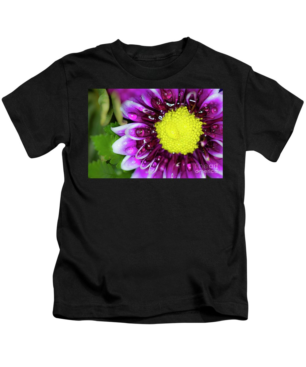 Flower Kids T-Shirt featuring the photograph Flower And Droplets by Dianne Phelps
