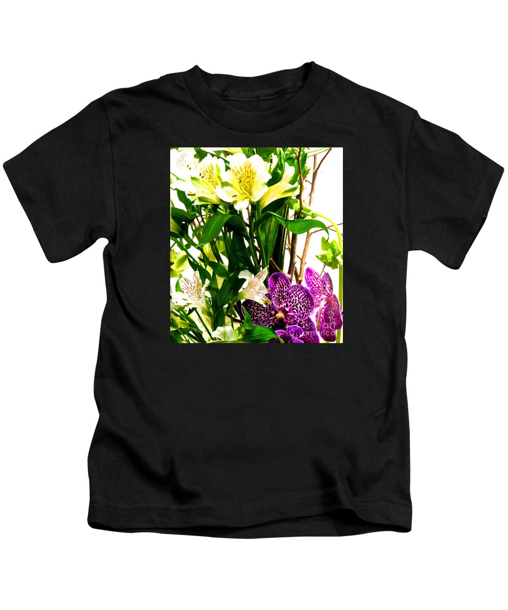 Flower Kids T-Shirt featuring the photograph Flower Arrangement 1 by Ken Lerner