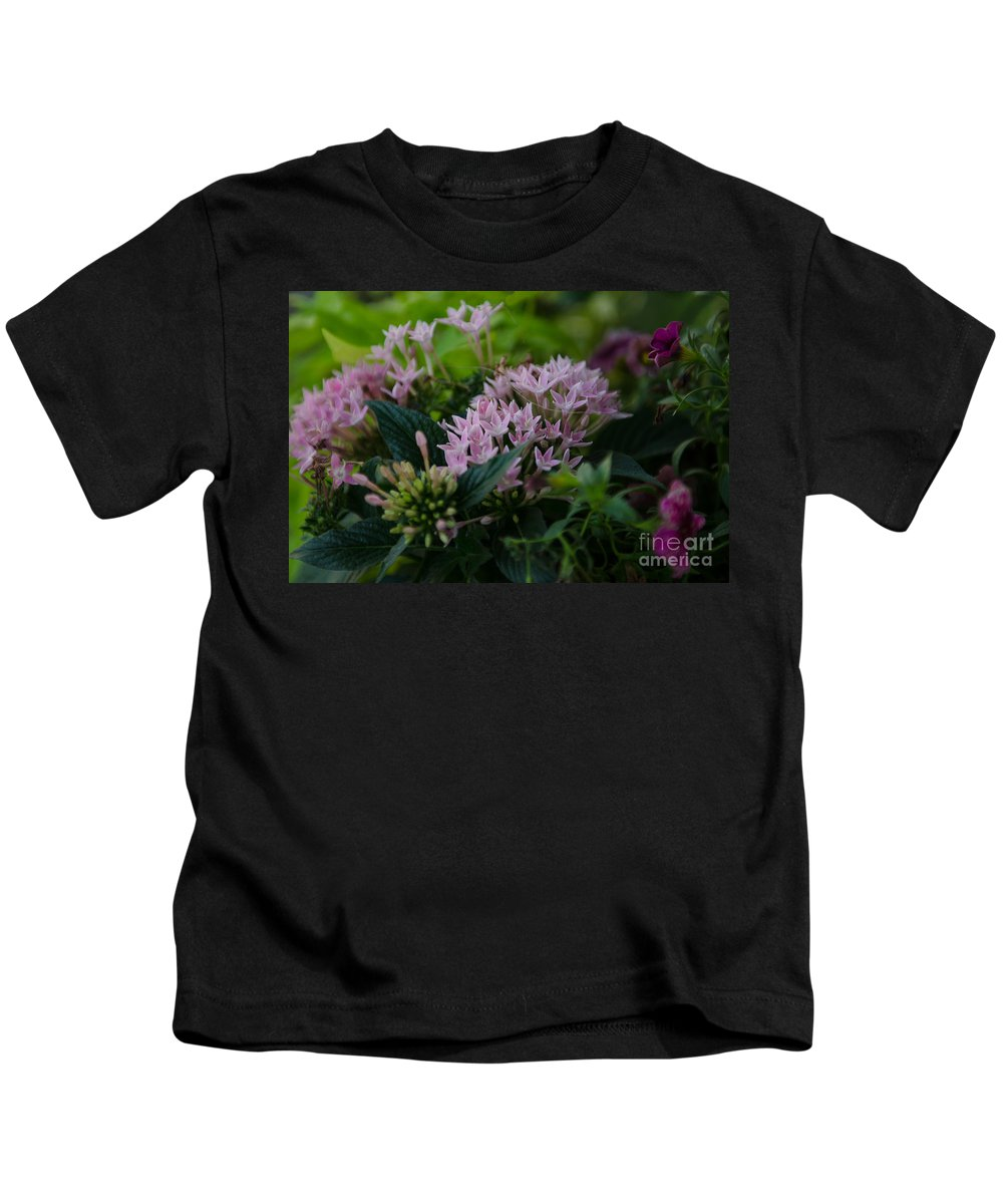 Flowers Kids T-Shirt featuring the photograph Flower Basket by Dale Powell