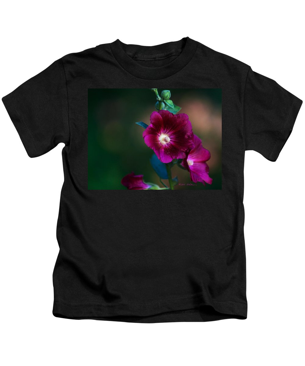 Heron Heaven Kids T-Shirt featuring the photograph Flower Bloom by Edward Peterson
