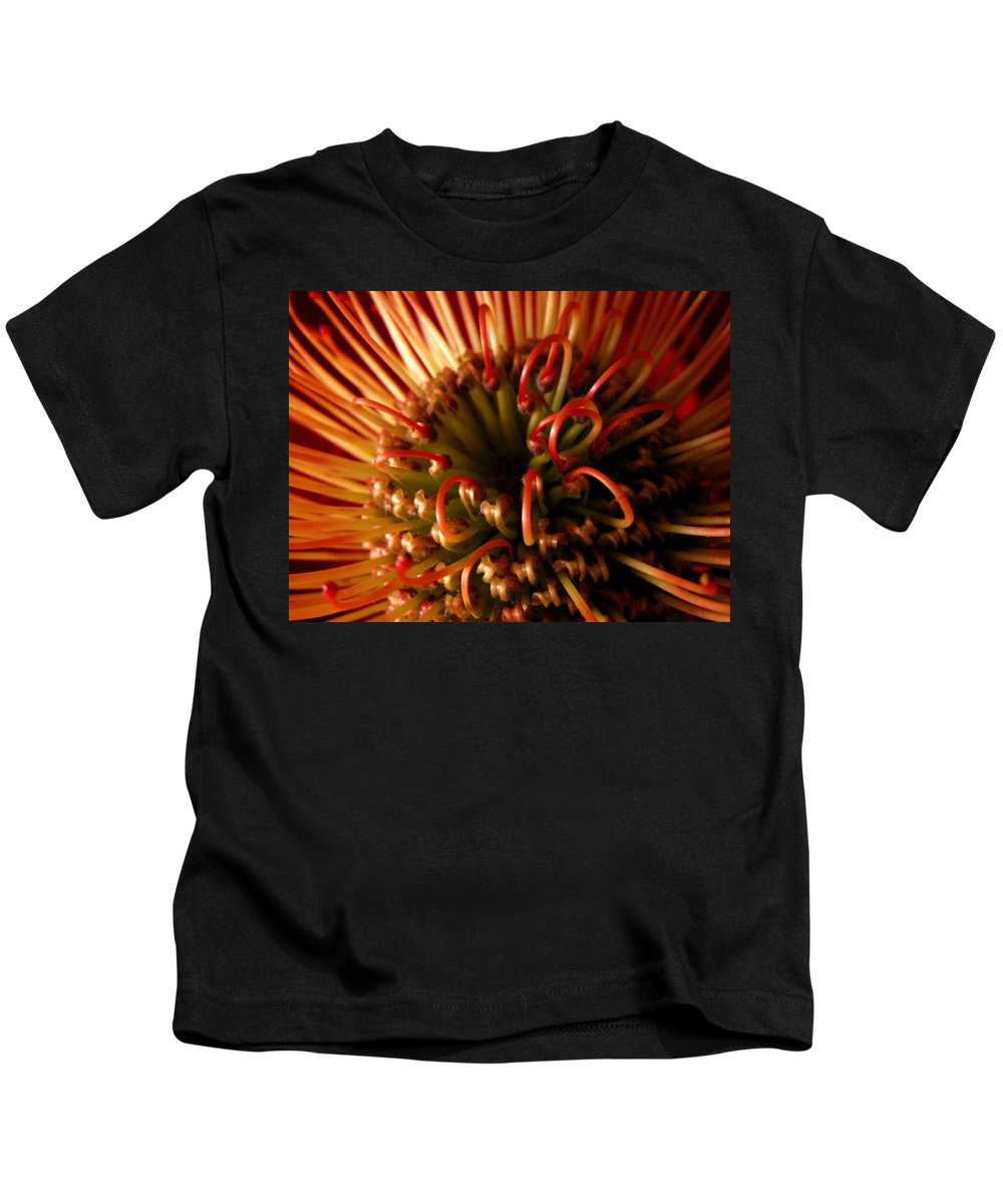Flowers Kids T-Shirt featuring the photograph Flower Hawaiian Protea by Nancy Griswold
