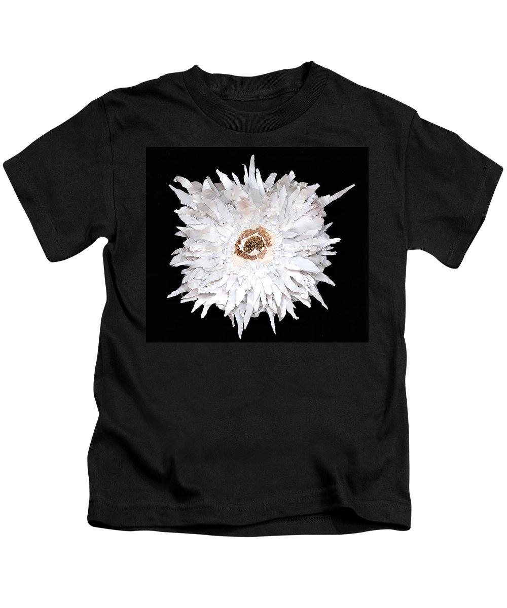 Flower Kids T-Shirt featuring the mixed media Flower by Jaime Becker