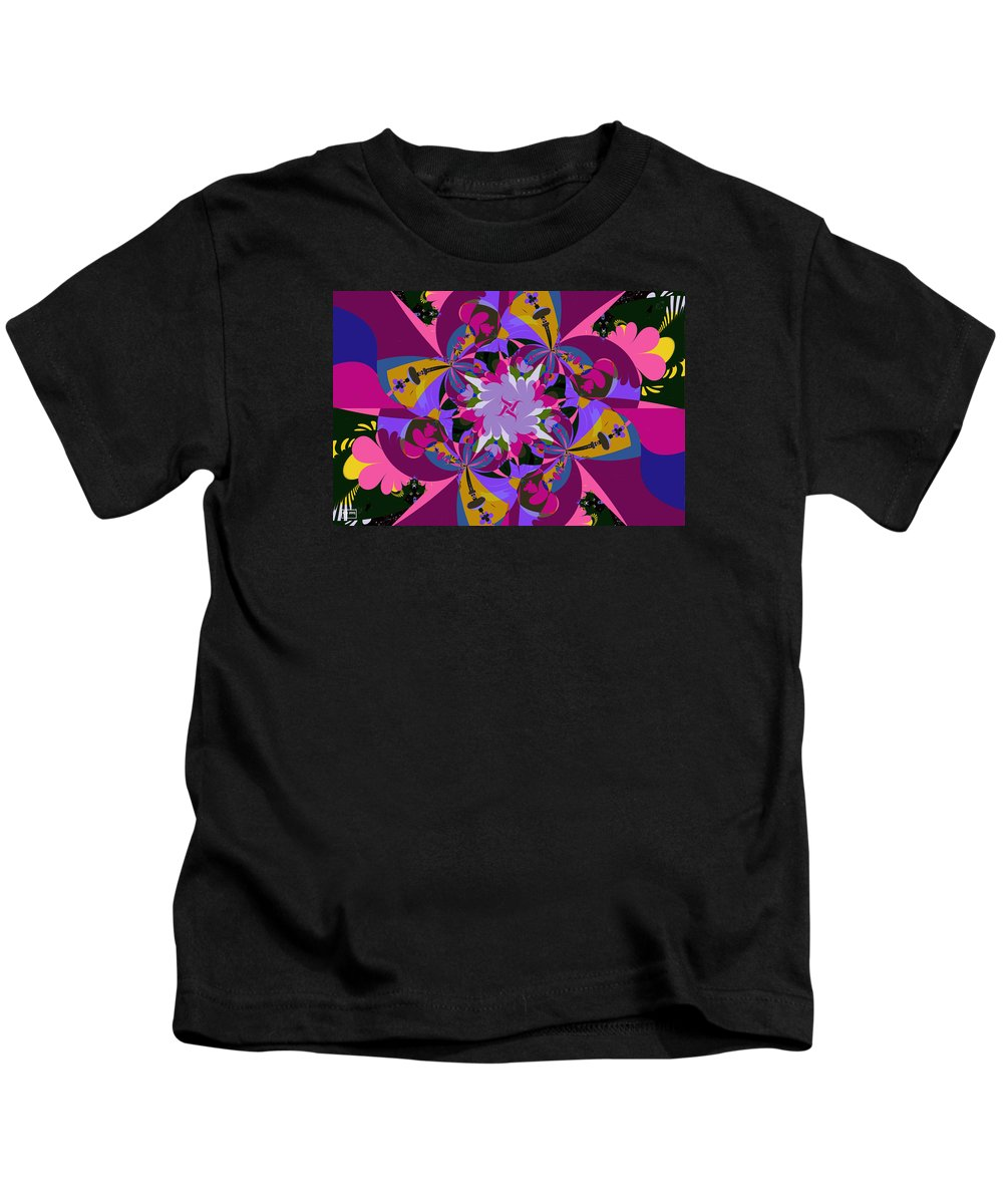 Jim Pavelle Kids T-Shirt featuring the digital art Flower Mont by Jim Pavelle