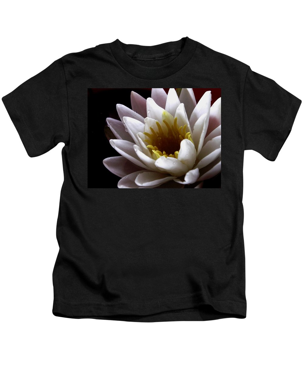 Waterlily Kids T-Shirt featuring the photograph Flower Waterlily by Nancy Griswold