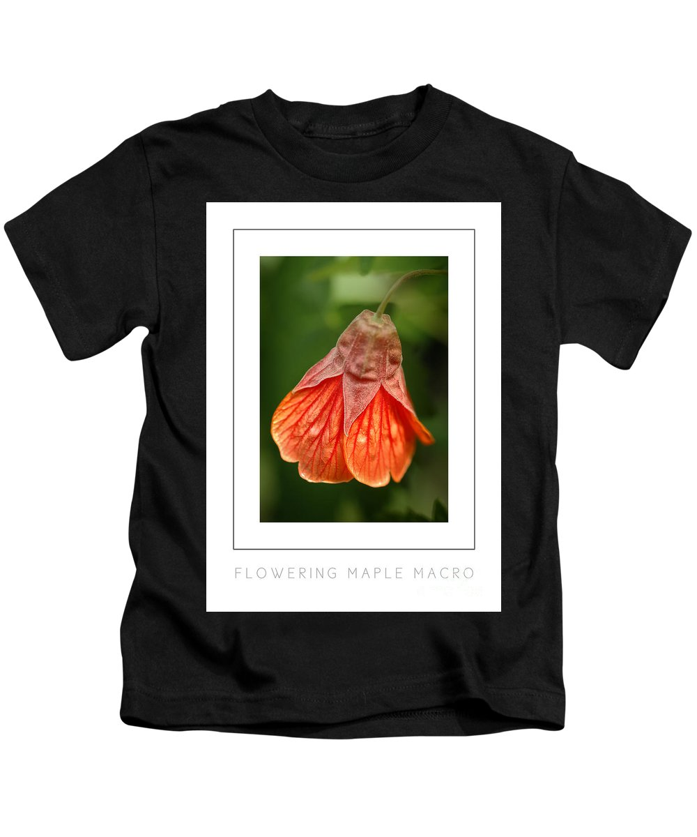 Flowering Maple Kids T-Shirt featuring the photograph Flowering Maple Macro Poster by Mike Nellums