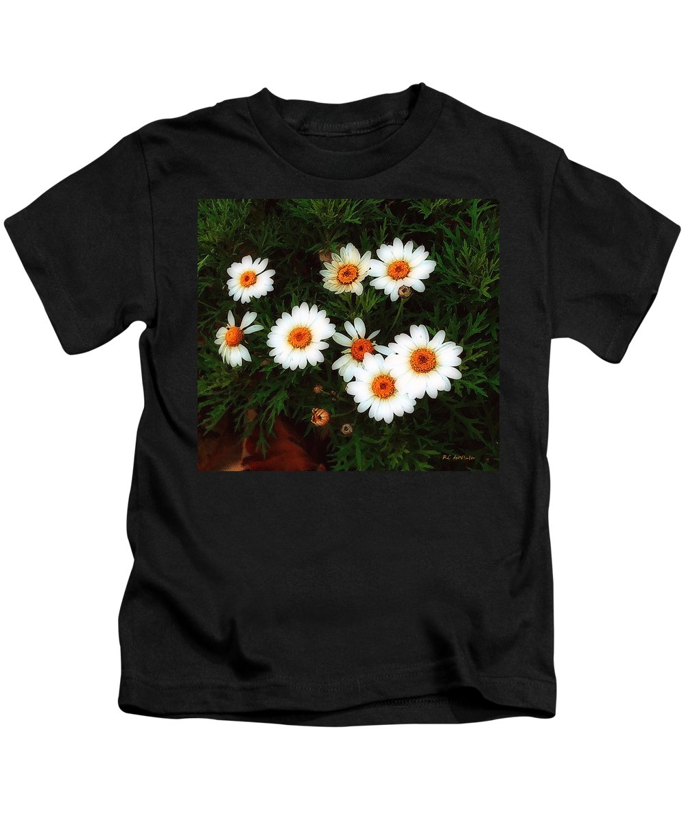 Bush Kids T-Shirt featuring the painting Flowering Yew by RC DeWinter