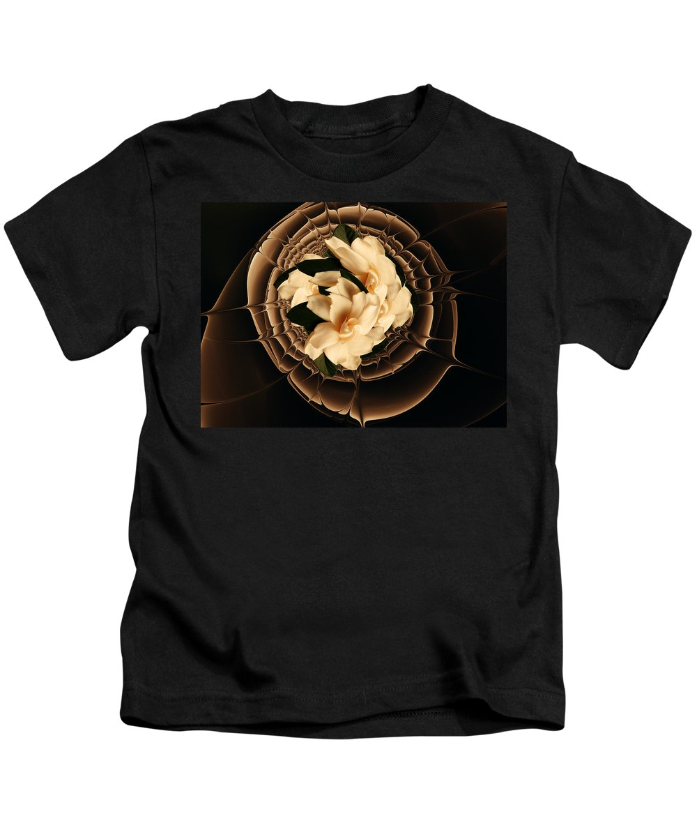 Flower Kids T-Shirt featuring the mixed media Flowers And Chocolate by Georgiana Romanovna