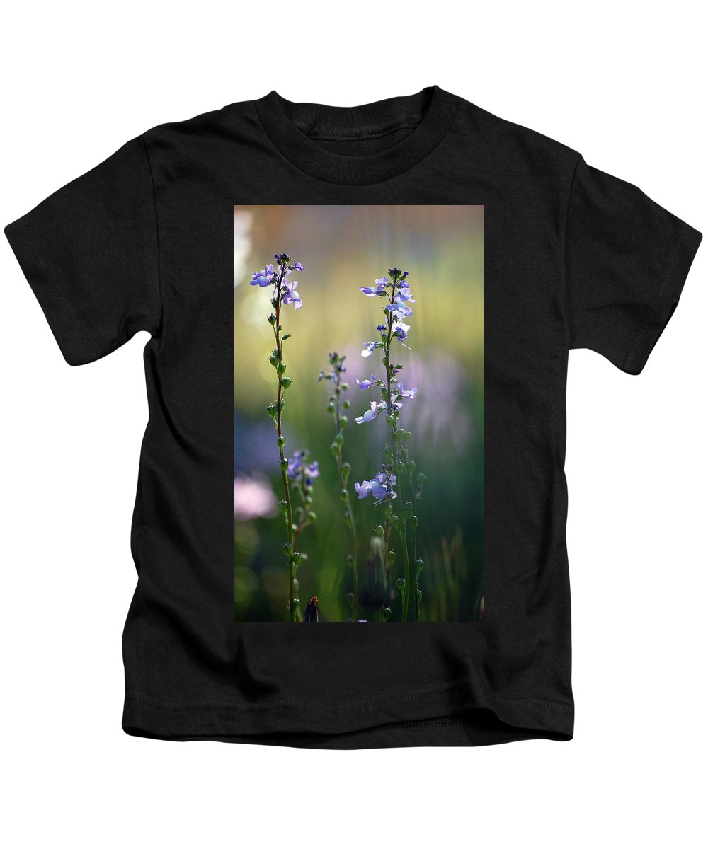 Nature Kids T-Shirt featuring the photograph Flowers By The Pond by Robert Meanor