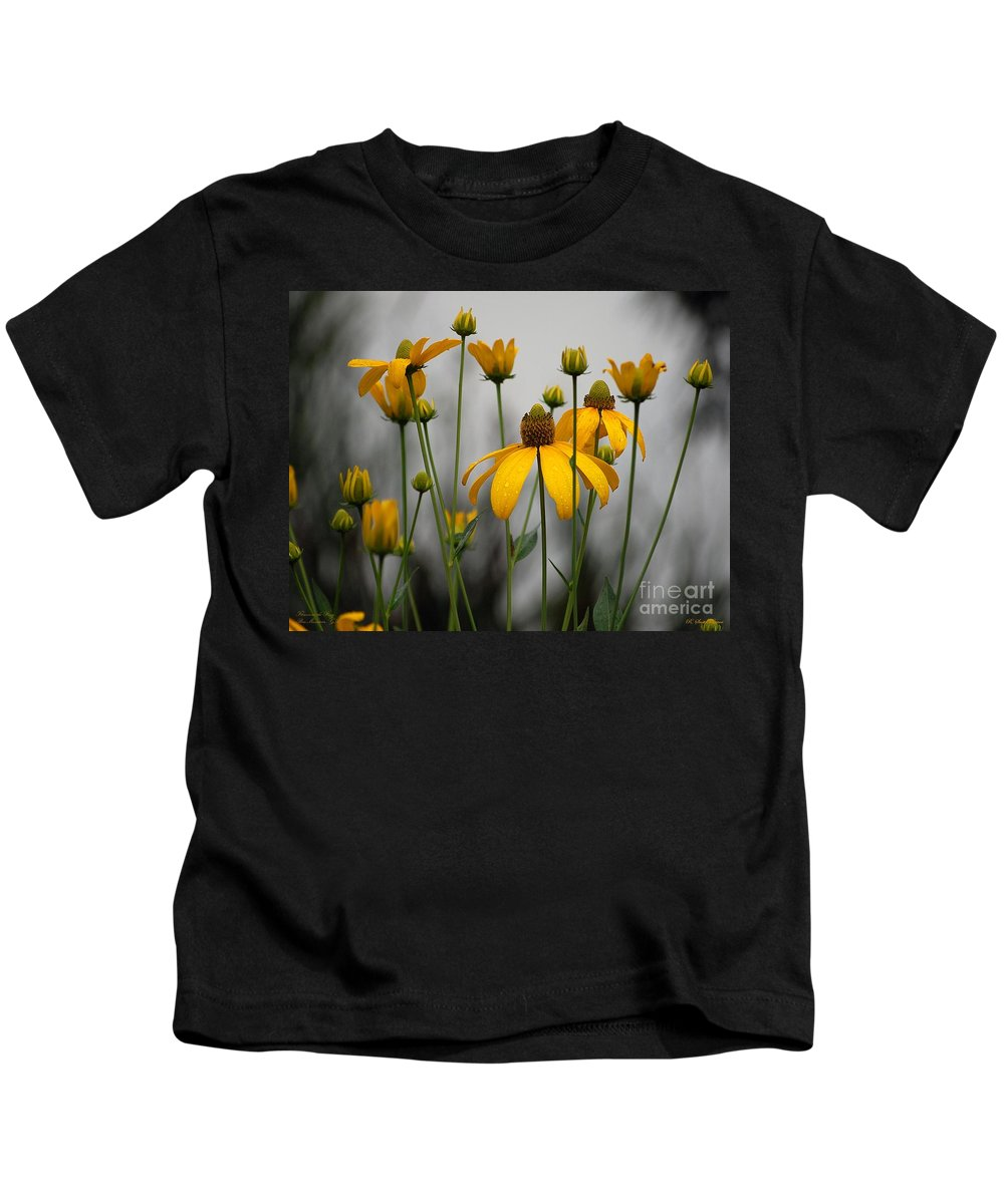 Flowers In The Rain Kids T-Shirt featuring the photograph Flowers In The Rain by Robert Meanor