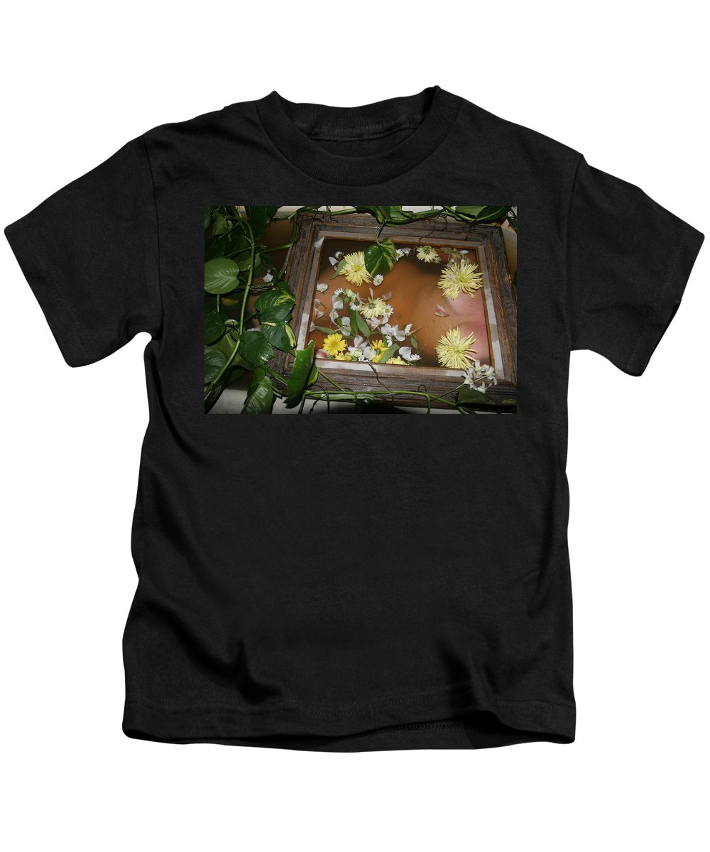 Lucky Cole Everglades Photographer Female Nude Everglades Kids T-Shirt featuring the photograph Flowers by Lucky Cole