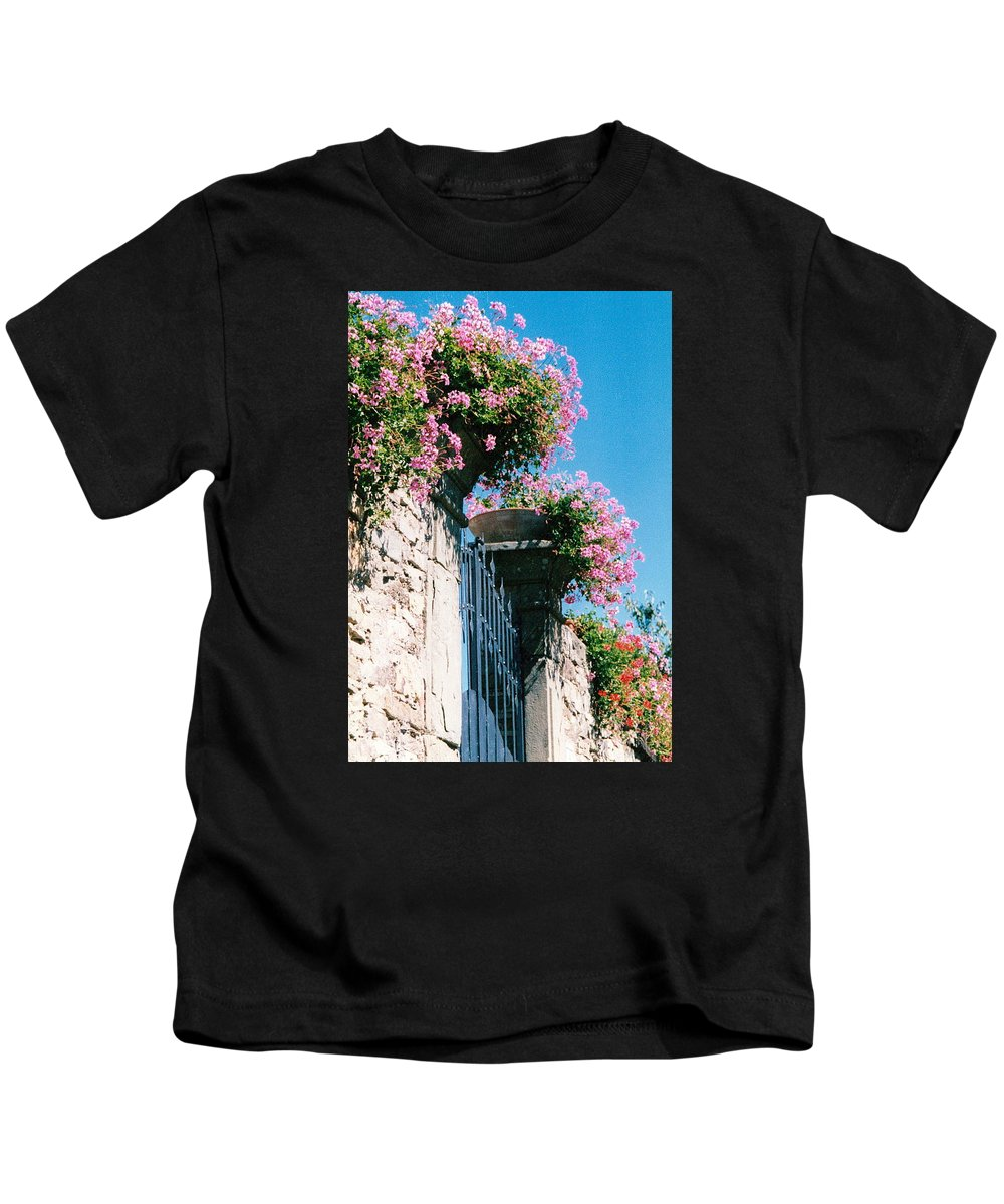 Italy Kids T-Shirt featuring the photograph Flowers Of Panzano Photograph by Kimberly Walker