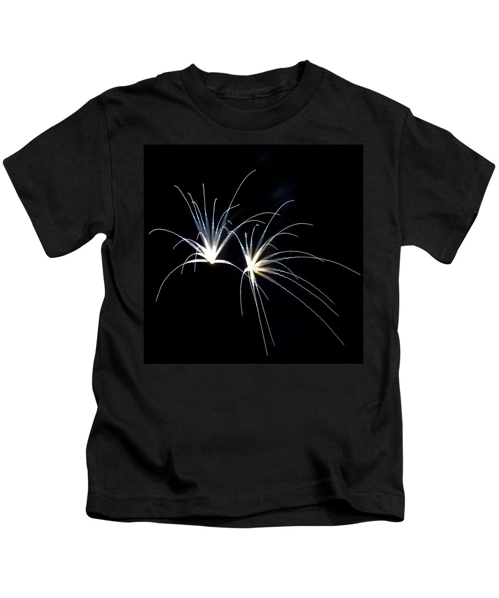 Fireworks Kids T-Shirt featuring the photograph Flowerworks #13 by Sandy Swanson