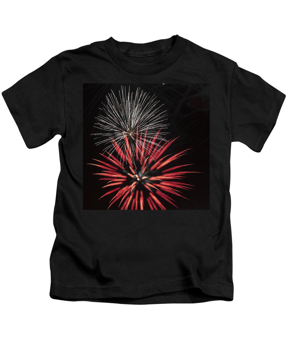 Fireworks Kids T-Shirt featuring the photograph Flowerworks #3 by Sandy Swanson