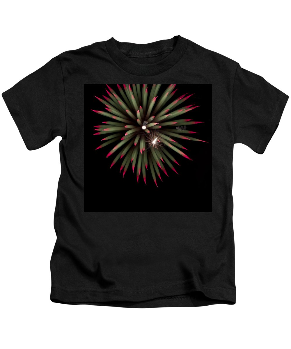 Fireworks Kids T-Shirt featuring the photograph Flowerworks #8 by Sandy Swanson