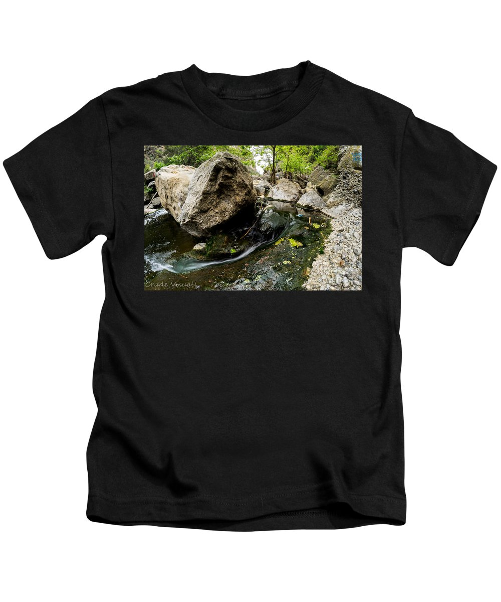 Stream Kids T-Shirt featuring the photograph Flowing Stream by Yasthin Torres