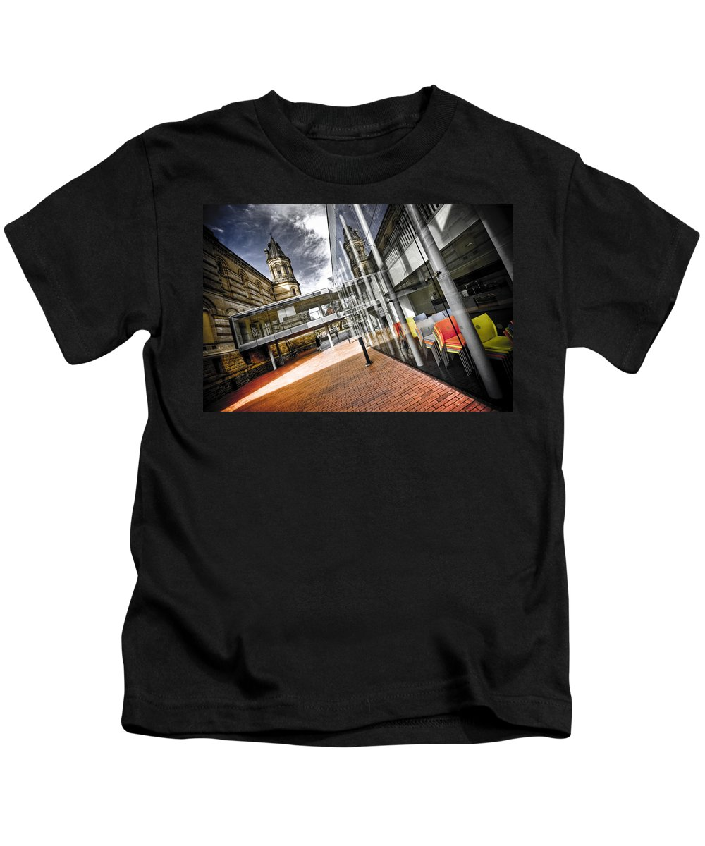 Flyover Kids T-Shirt featuring the photograph Flyover by Wayne Sherriff