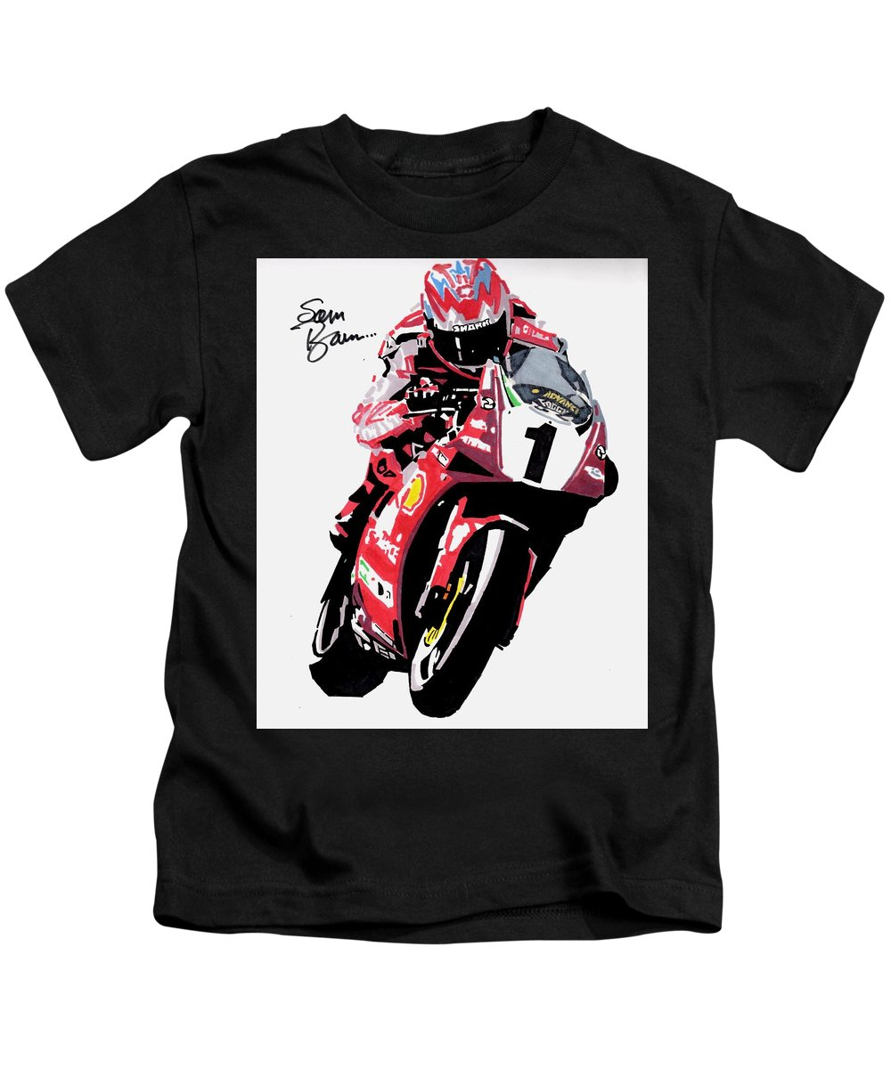 Ducati Kids T-Shirt featuring the drawing Foggy by Sam Barrese