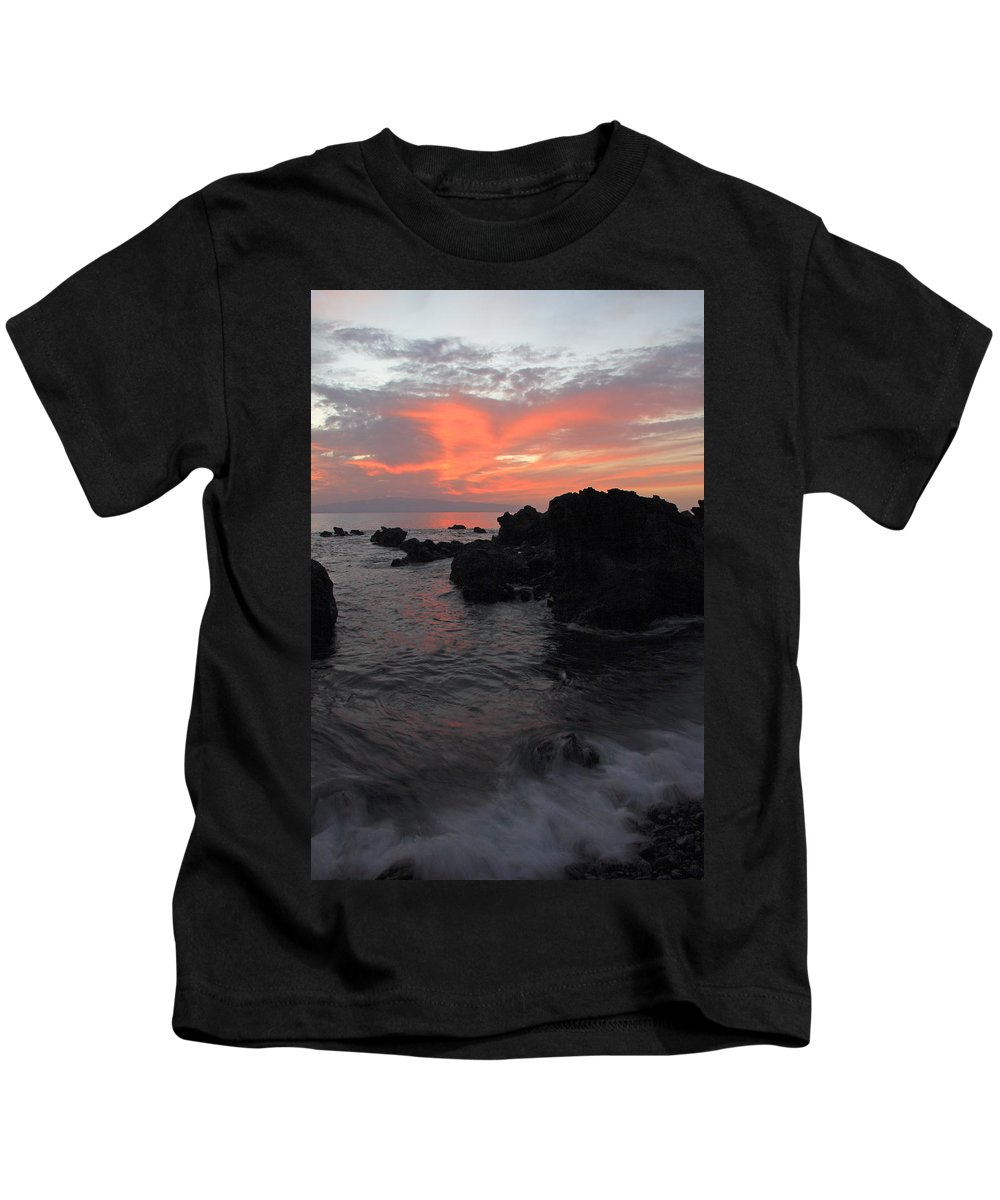 Seascape Kids T-Shirt featuring the photograph Fonsalia Red by Phil Crean