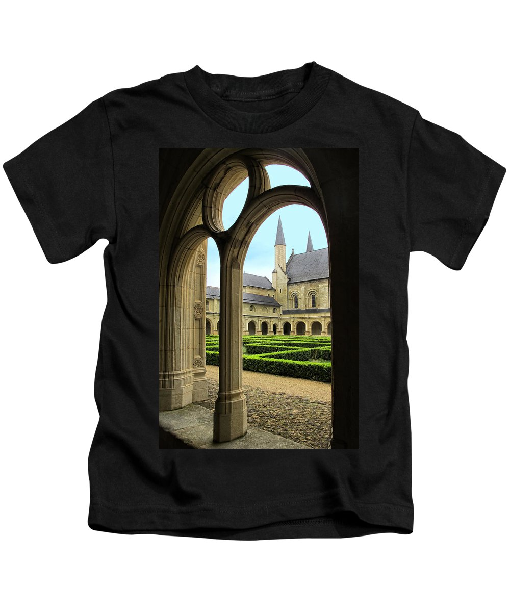 Fontevraud Abbey Kids T-Shirt featuring the photograph Fontevraud Abbey by Dave Mills