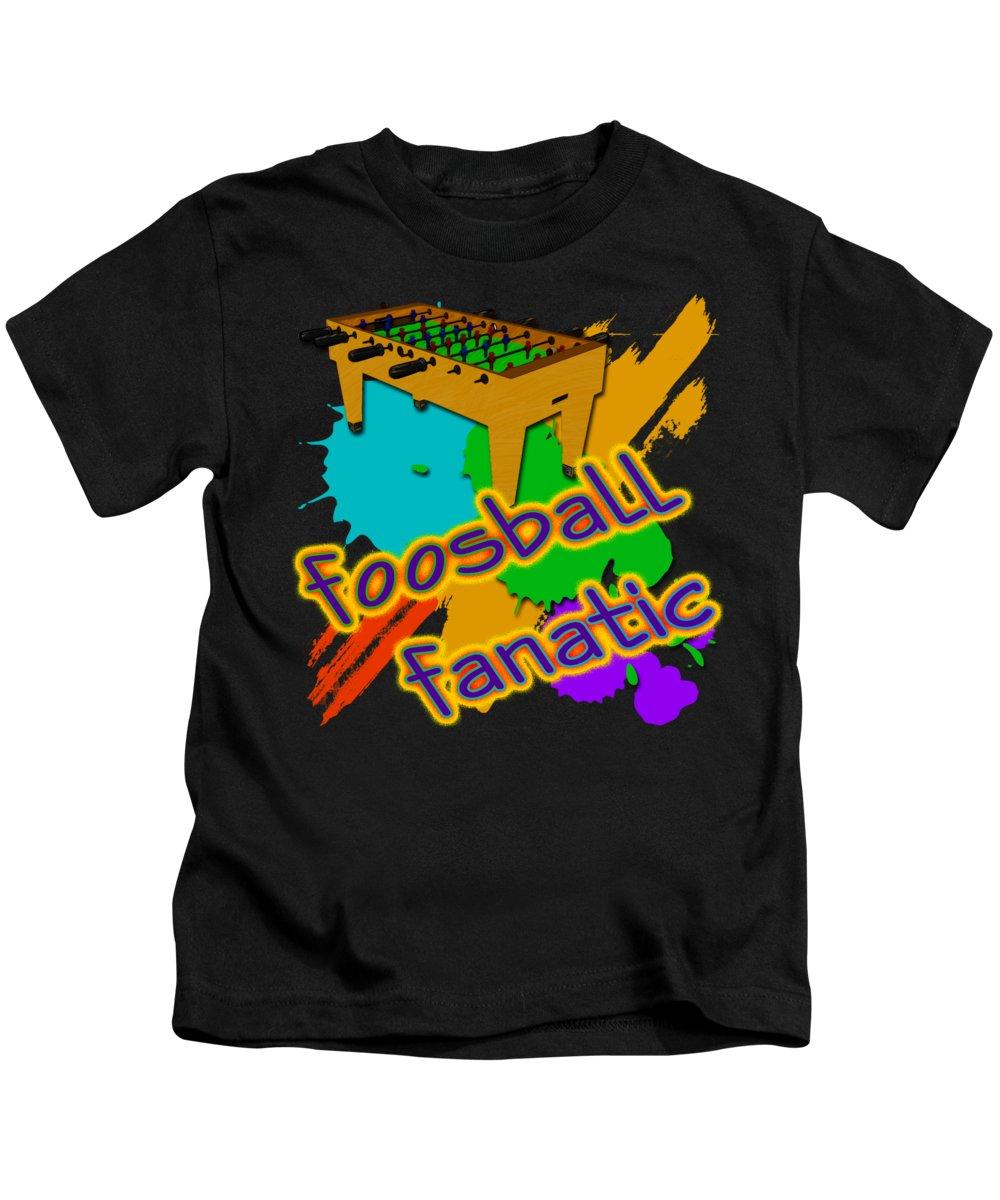 Foosball Fanatic Kids T-Shirt featuring the digital art Foosball Fanatic by David G Paul