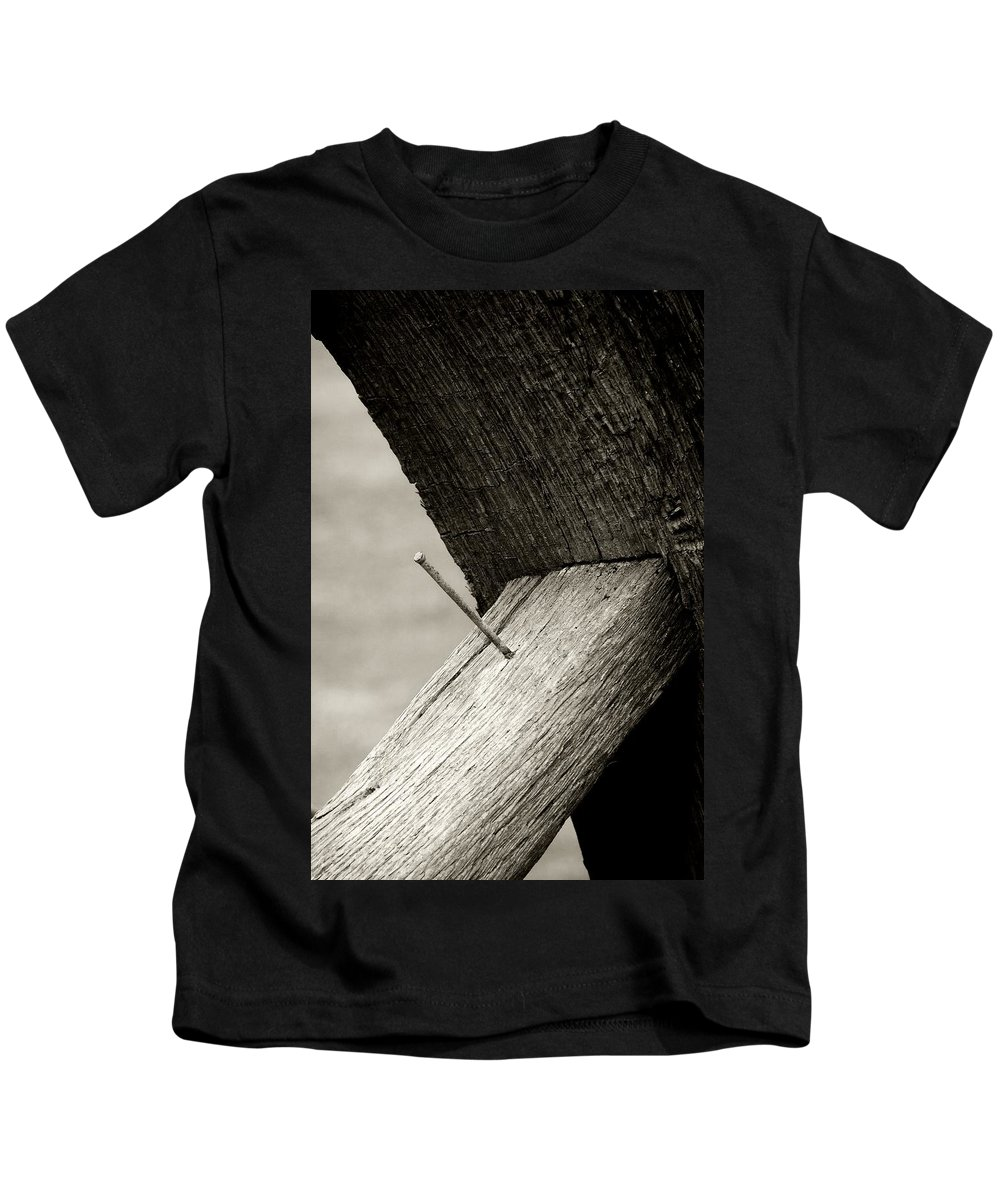 Kids T-Shirt featuring the photograph For Want Of A Nail by RC DeWinter