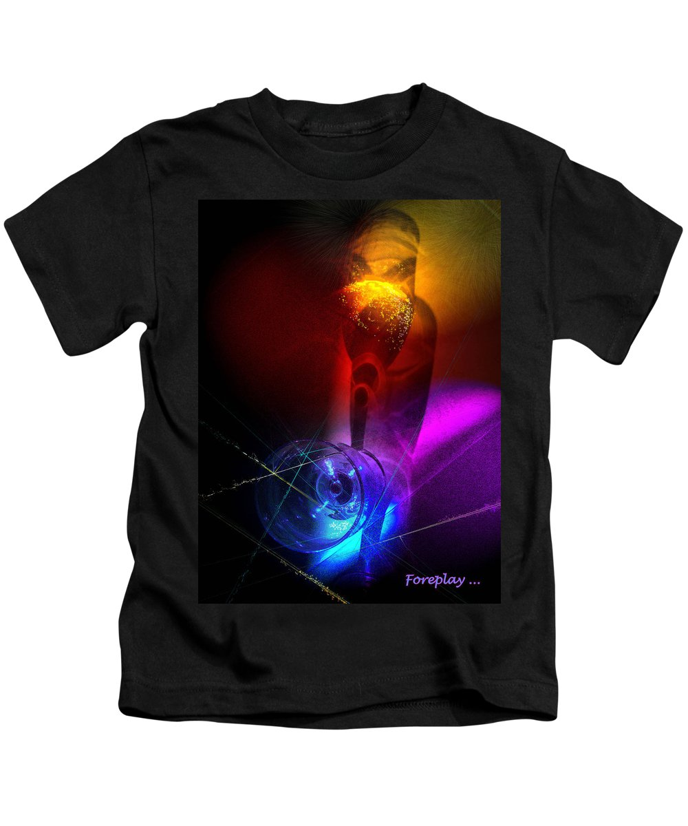 Fantasy Kids T-Shirt featuring the photograph Foreplay by Miki De Goodaboom