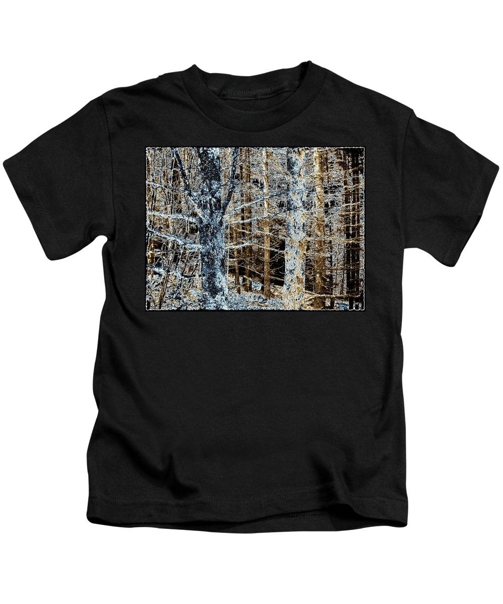 Forest Kids T-Shirt featuring the digital art Forest Calm by Will Borden