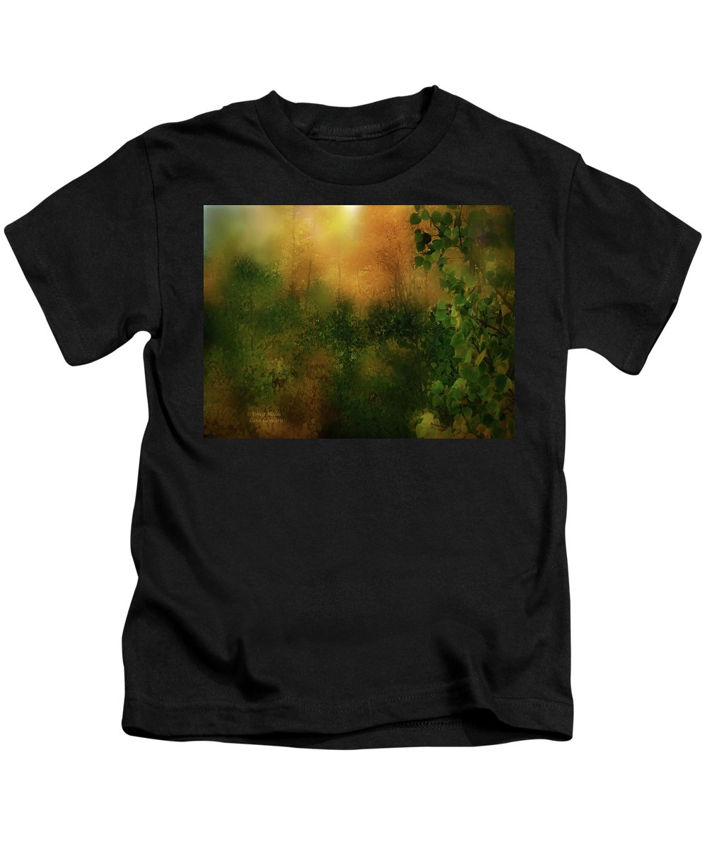 Forest Kids T-Shirt featuring the mixed media Forest Moods by Carol Cavalaris