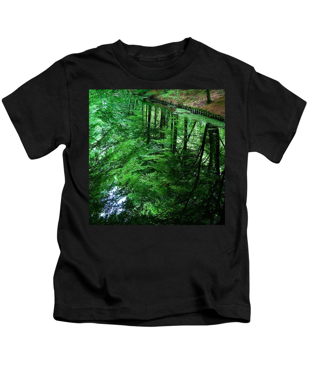 Forest Kids T-Shirt featuring the photograph Forest Reflection by Dave Bowman