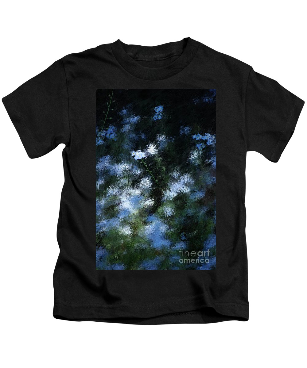 Abstract Kids T-Shirt featuring the digital art Forget Me Not by David Lane